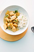 Asian chicken curry with rice