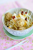 Celeriac salad with nut & tofu balls