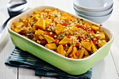 Squash Pepper Casserole; Ingredients