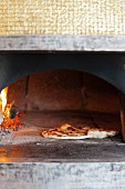 Fresh Mozzarella Pizza in a Wood Burning Oven