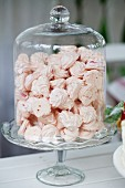 Meringues in glass container