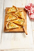 Camembert and caramelised onion tart