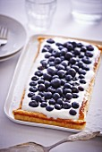 Blueberry tart with quark
