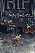 Gruesome cupcakes for Halloween