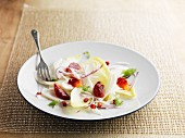 Winter salad of chicory, blood orange and pomegranate