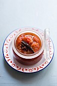 Tomato chutney with spices