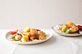 Sweet-and-Sour shrimp with pineapple