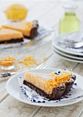 Lemon and chocolate tart with limoncello