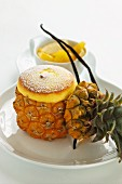 Pineapple soufflé with yoghurt and vanilla