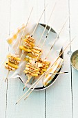 Chicken satay with pineapple
