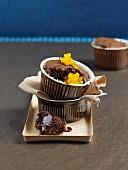 Dark chocolate pudding