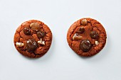 Two cookies with chestnuts