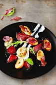 Potato salad with beetroot