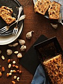 Carrot cake bread with nuts