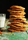 A stack of ginger biscuits carrots