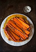 Caramelised carrot tart