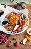 Jaffles with fruits