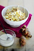 Jerusalem artichoke with a yogurt dressing