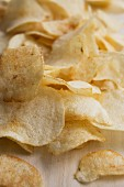 Home-made potato crisps