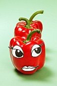 A pepper with a face