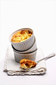 Potato soufflé in a ramekin