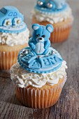 Cupcakes to celebrate the birth of a baby boy