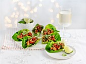 Oriental lettuce wraps for Christmas