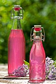 Lilac flower syrup