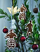 Gingerbread men used as Christmas tree decorations