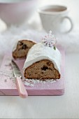 Stollen with dried plums