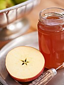 A jar of apple jelly