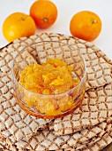 Orange and mandarin marmalade with cinnamon