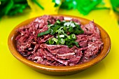 Carne seca (dried meat, Brazil)