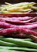 Yellow beans, borlotti beans and fava beans