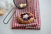 A sweet blueberry pastry
