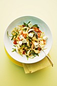 Tagliatelle with tuna and feta