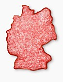 Germany-shaped salami