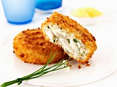Haddock fish cakes with chives