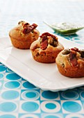Olive muffins with bacon