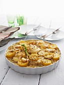 Fennel and potato gratin with Camembert