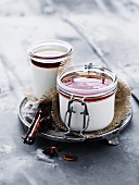 Panna cotta with spicy sauce