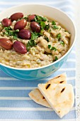 Aubergine dip with olives (Greece)