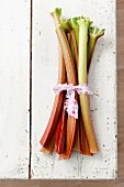 A bunch of rhubarb