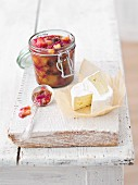 Camembert with rhubarb chutney