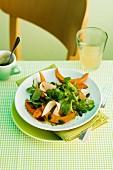 Pumpkin and turkey ham salad
