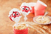 Father Christmas cake pops