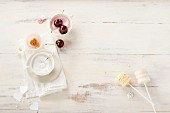 Ingredients for decorating celebratory cake pops
