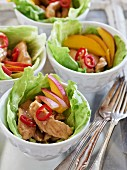 Chicken teriyaki with mango