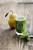 A pear and lettuce smoothie with sage