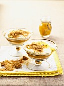 Layered desserts with mascarpone and passion fruit